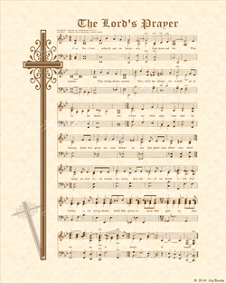 The Love Of God - Christian Heritage Hymn, Sheet Music, Vintage Style, Natural Parchment, Sepia Brown Ink, 8x10 art print ready to frame, Vintage Verses
