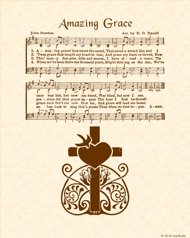 Amazing Grace Lyrics Sheet Music: Hymn Titles Beginning With The Letter A